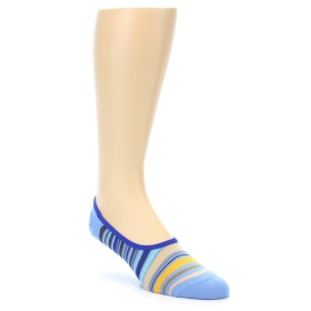 21000-blues-yellow-tan-stripe-mens-no-show-sock-ozone-socks01