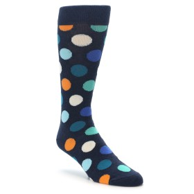 21687-Blues-White-Orange-Polka-Dot-Mens-Dress-Socks-Happy-Socks01
