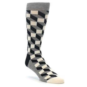 21690-Grey-Black-White-Optical-Mens-Dress-Socks-Happy-Socks01