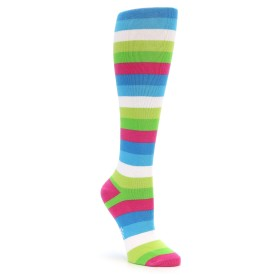 20247-pink-blue-green-white-stripe-womens-knee-high-sock-sock-it-to-me01