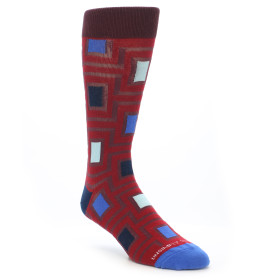 21733-red-blue-navy-maze-men's-dress-socks-unsimply-stitched