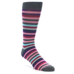 20734-Pink-Purple-Multi-Colored-Stripe-Mens-Dress-Sock-Unsimply-Stitched01