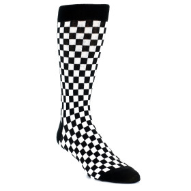 20857-black-white-checkered-mens-dress-sock-k.-bell-socks01