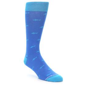 20886-Blue-Shark-Pattern-Mens-Dress-Sock-Unsimply-Stitched01
