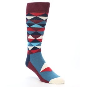 21245-Burgundy-Navy-Red-Triangles-Men's-Dress-Socks-Happy-Socks01