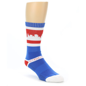 21270-blue-red-chicago-city-men's-athletic-crew-socks-strideline01