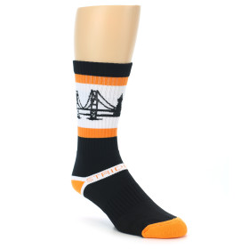 21282-black-orange-san-francisco-city-men's-athletic-crew-socks-strideline01