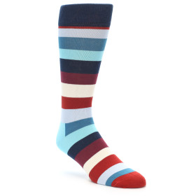 21471-Blues-Maroon-Cream-Stripe-Men's-Dress-Socks-Happy-Socks01