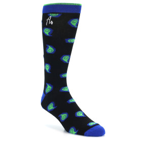 21527-Navy-Green-Blue-Paisley-XL-Men's-Dress-Socks-Argoz01