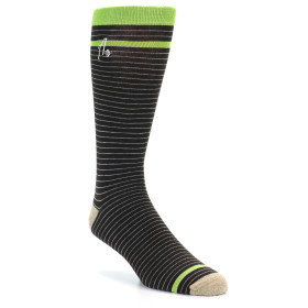 21529-Brown-White-Green-Stripe-XL-Men's-Dress-Socks-Argoz01