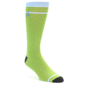 21530-Green-White-Light-Blue-Stripe-XL-Men's-Dress-Socks-Argoz01