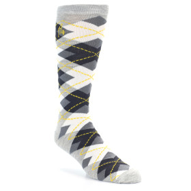 21531-Grey-Black-White-Argyle-XL-Men's-Dress-Socks-Argoz01