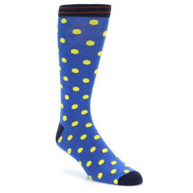 21533-Blue-Yellow-Polka-Dot-XL-Men's-Dress-Socks-Argoz01