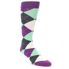 21566-purple-seafoam-charcoal-argyle-men's-dress-socks-statement-sockwear01