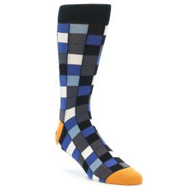 21568-black-blue-grey-checkered-men's-dress-socks-statement-sockwear01