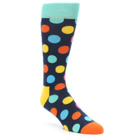 21574-Navy-Multi-Color-Polka-Dot-Men's-Dress-Socks-Happy-Socks01