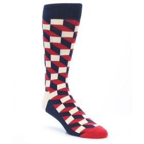 21582-Navy-Red-White-Optical-Men's-Dress-Socks-Happy-Socks01