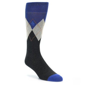 21602-Grey-Blue-Argyle-Men's-Dress-Socks-Original-Penguin01