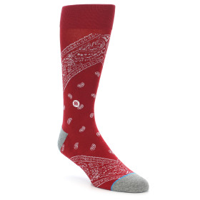 21637-Red-Paisley-Men's-Casual-Socks-STANCE01