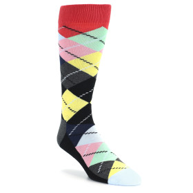 21682-black-grey-multi-color-argyle-men's-dress-socks-happy-socks01