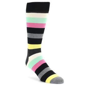 21692-black-grey-yellow-pink-stripe-men's-dress-socks-happy-socks01