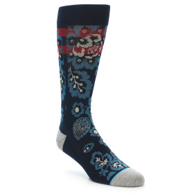 21699-Navy-Red-Grey-Floral-Men's-Casual-Socks-STANCE01