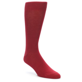 21732-Apple-Red-Solid-Color-Men's-Dress-Socks-boldSOCKS01