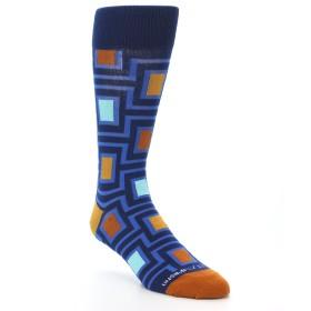 21734-Blue-Navy-Maze-Men's-Dress-Socks-Unsimply-Stitched01