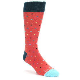 21738-coral-multi-color-polka-dot-men's-dress-socks-unsimply-stitched01