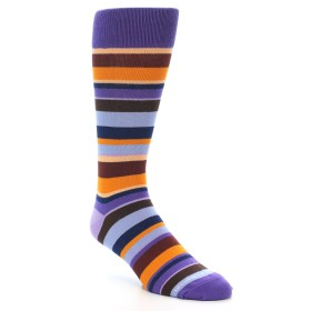 21741-Purple-Brown-Orange-Stripe-Men's-Dress-Socks01