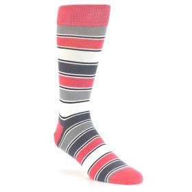 21779-pink-grey-white-stripe-men's-dress-socks-statement-sockwear01