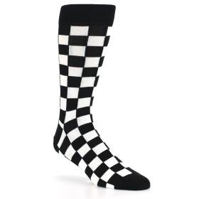 21783-black-white-checkered-men's-dress-socks-statement-sockwear01