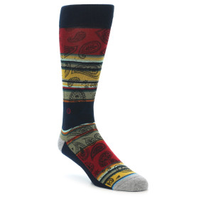 21787-multi-color-paisley-men's-casual-socks-stance01