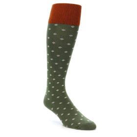 21802-green-polka-dot-men's-over-the-calf-dress-sock-zkano01