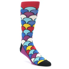 21806-Multi-Color-Overlapping-Circles-Men's-Dress-Socks-Socks01