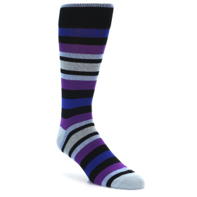 21810-Black-Blue-Purple-Stripe-Men's-XL-Dress-Socks-Vannucci01