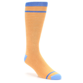 21813-Orange-Stripe-XL-Men's-Dress-Socks-Argoz01