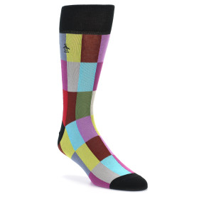 21824-Black-Multi-Checkered-Men's-Dress-Socks-Original-Penguin01