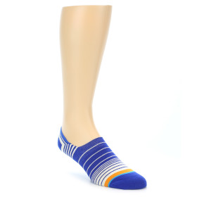 21837-Blue-White-Orange-Stripe-Men's-Liner-Socks-STANCE01