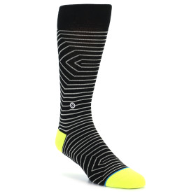 21838-Black-Whtie-Neon-Stripe-Men's-Casual-Socks-STANCE01