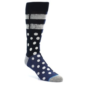 21840-Navy-Blue-White-Dot-&-Stripe-Men's-Casual-Socks-STANCE01