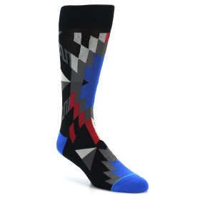 21841-Black-Red-Blue-Aztec-Pattern-Men's-Casual-Socks-STANCE01