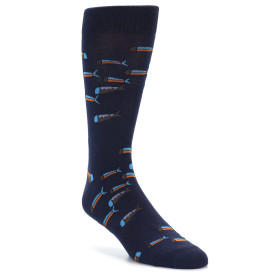 21846-Navy-Blue-Orange-Fish-Men's-Dress-Socks-Sock-It-To-Me01