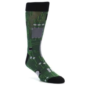 21849-Green-Grey-Circuit-Board-Men's-Dress-Socks-Sock-It-To-Me01