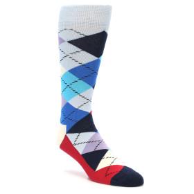 21862-Blues-White-Red-Argyle-Men's-Dress-Socks-Happy-Socks01