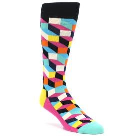 21865-Black-Multi-Color-Optical-Men's-Dress-Socks-Happy-Socks01