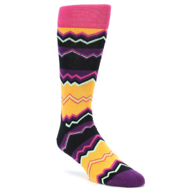 21866-Black-Purple-Orange-Zig-Zag-Men's-Dress-Socks-Happy-Socks01