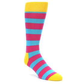 21868-Blue-Pink-Stripes-Men's-Dress-Socks-Happy-Socks01