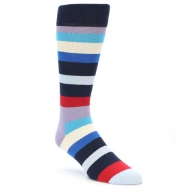 21869-Navy-Blue-Red-Stripes-Men's-Dress-Socks-Happy-Socks01
