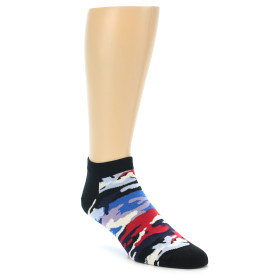 21872-Black-Red-Blue-Camo-Men's-Ankle-Socks-Happy-Socks01
